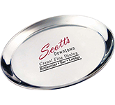 Dorchester Round Stainless Steel Serving Tray - 400 mm