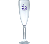 Reusable Polycarbonate Frosted Champagne Flute - 187ml