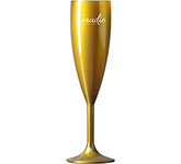 Reusable Polycarbonate Gold Champagne Flute - 187ml