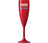 Reusable Polycarbonate Red Champagne Flute - 187ml