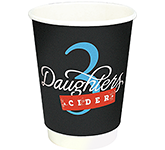 Enviro Recyclable Double Walled Paper Cup - Full Colour - 340ml
