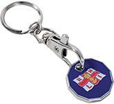 New Pound Trolley Coin Keyring