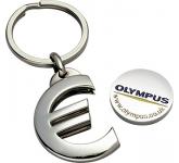 Premium Euro Trolley Coin Keyring