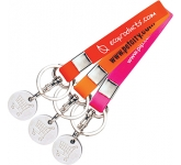 Silicone Band Trolley Coin Keyring