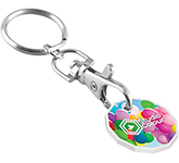 Recycled Trolley Coin Keyring