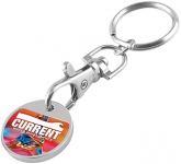 ColourBrite Trolley Coin Keyring