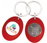 Sweep Trolley Coin Keyring