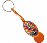 Metal Trolley Mate Keyring