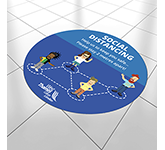 Round Anti-Slip Social Distancing Floor Stickers - 600mm