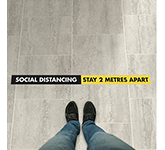 Anti-Slip Social Distancing Floor Stickers - 1500 x 100mm