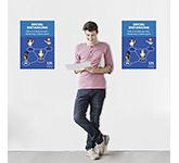 Social Distancing Polyprop Poster - A3