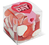 Clear Cube - Haribo Heart Throbs