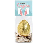 Eco Block Bag - Gold Foiled Chocolate Egg