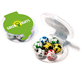 Eco Midi Pots - Foil Wrapped Chocolate Footballs