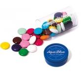 Mini Clear Sweet Tubes - Chocolate Beanies