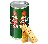 Eco Snack Tube - Mini Shortbread Biscuits - Christmas