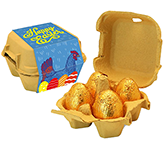 Box Of Gold Foiled Chocolate Eggs