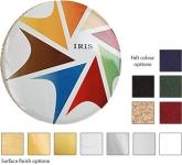 Round ColourBrite Metal Coaster