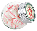 Mini Side Glass Sweet Jars - Peppermint Pillows  by Gopromotional - we get your brand noticed!