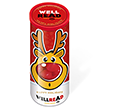 Christmas Midi Sweet Tubes - Rudolph Noses Gourmet Jelly Beans  by Gopromotional - we get your brand noticed!