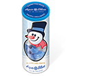 Christmas Midi Sweet Tubes - Snowman Gourmet Jelly Beans  by Gopromotional - we get your brand noticed!