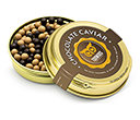 Gold Caviar Treat Tins - Dark Chocolate & Salted Caramel Chocolate Pearls  by Gopromotional - we get your brand noticed!