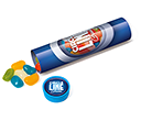 Maxi Clear Sweet Tubes - Jelly Beans  by Gopromotional - we get your brand noticed!