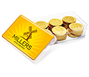 Maxi Rectangular Sweet Pots - Chocolate Coins  by Gopromotional - we get your brand noticed!