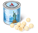 Small Sweet Paint Tins - White Chocolate Malt Balls  by Gopromotional - we get your brand noticed!