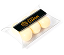 Small Sweet Pouches - White Chocolate Malt Balls  by Gopromotional - we get your brand noticed!