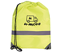 Neon High Visibiity Reflective Drawstring Bags  by Gopromotional - we get your brand noticed!