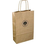 A4 Sustainable Kraft Twist Handled Paper Carrier Bag  by Gopromotional - we get your brand noticed!