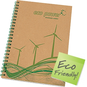 A5 Natural Recycled Wiro Bound Notepads