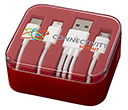 Mirage 3-in-1 USB Charging Cable Sets  by Gopromotional - we get your brand noticed!