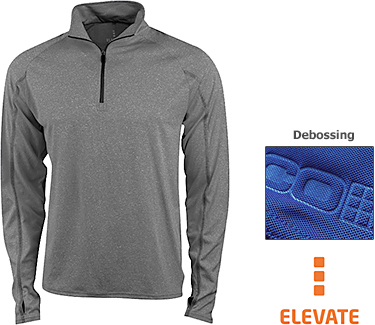 Promotional Elevate Taza Knit Quarter Zip Fleeces Printed