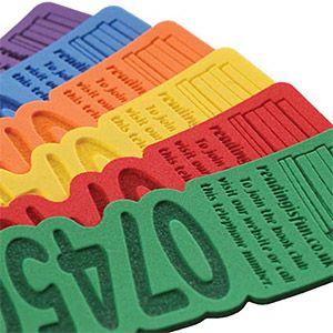 Embossed Foam Bookmarks