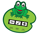 Frog Bath Water Temperature Gauge Cards  by Gopromotional - we get your brand noticed!