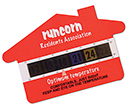 Small House Shaped Temperature Gauge Cards  by Gopromotional - we get your brand noticed!