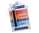 A6 House Shaped Temperature Gauge Cards  by Gopromotional - we get your brand noticed!