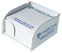 Arc Mini Note Block Holders  by Gopromotional - we get your brand noticed!