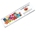 ColourBrite Puzzle Rulers  by Gopromotional - we get your brand noticed!