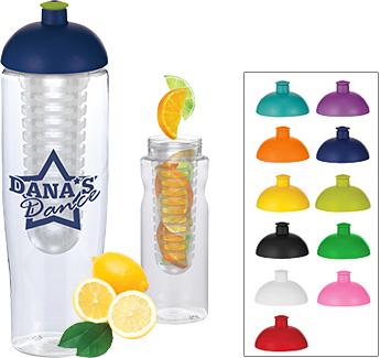 H20 Marathon 700ml Domed Top Fruit Infuser Sports Bottles