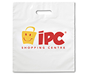 White Plastic Carrier Bags  by Gopromotional - we get your brand noticed!