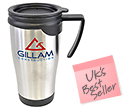Saturn Stainless Steel Travel Mugs  by Gopromotional - we get your brand noticed!