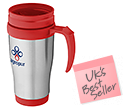 Aston Stainless Steel Travel Mugs  by Gopromotional - we get your brand noticed!