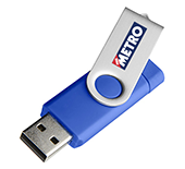 32gb On The Go Twister Micro USB FlashDrive