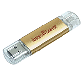 2gb On The Go Aluminium USB FlashDrive