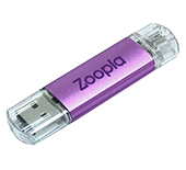 8gb On The Go Aluminium USB FlashDrive