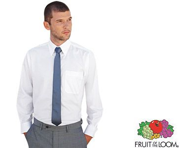 Fruit Of The Loom Men's Long Sleeved Oxford Shirts