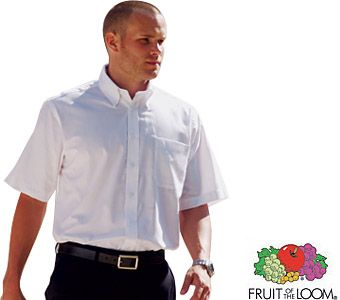 Fruit Of The Loom Men's Short Sleeved Oxford Shirts